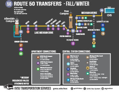 Route 50 Transfers - Fall/Winter